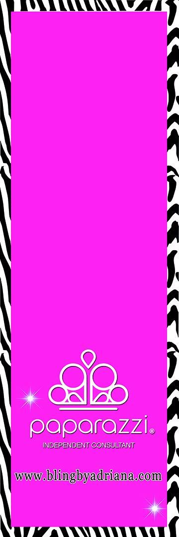 Paparazzi Table Runner - Zebra Stripe Pattern Background Logo Imprint - Size 2ft x 6ft