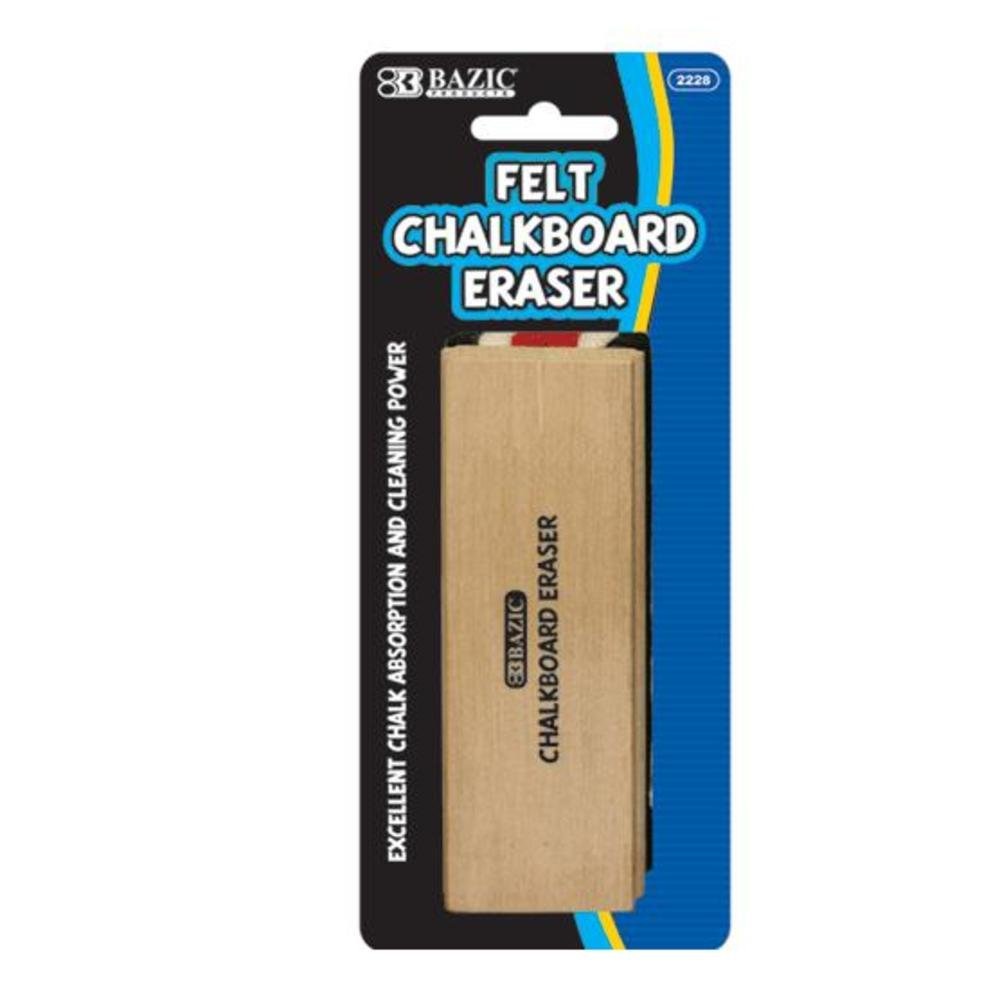 BAZIC Felt Chalkboard Eraser 144Pcs by Bazic
