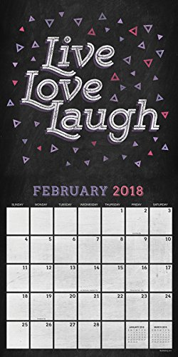2018 Chalk It Up Wall Calendar