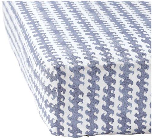 Serena Lily Baby - Serena & Lily Wave Crib Sheet - Blue