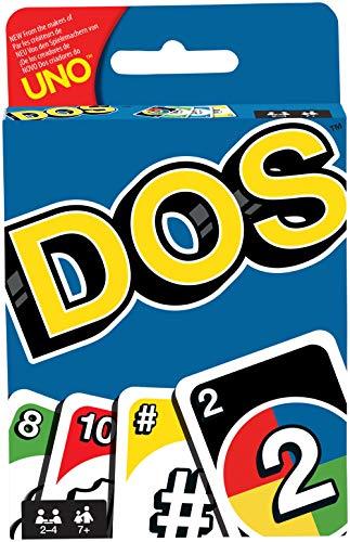 Mattel Games DOS, juego de cartas de UNO, edad recomandada 7 - 10 años (Mattel FRM36)