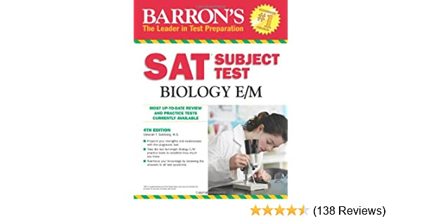 Barrons SAT Subject Test Biology E/M, 5th Edition