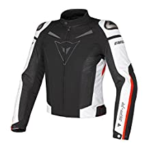 Dainese Super Speed Textile Motorcycle Jacket Black/White/Red 46 USA/56 Euro