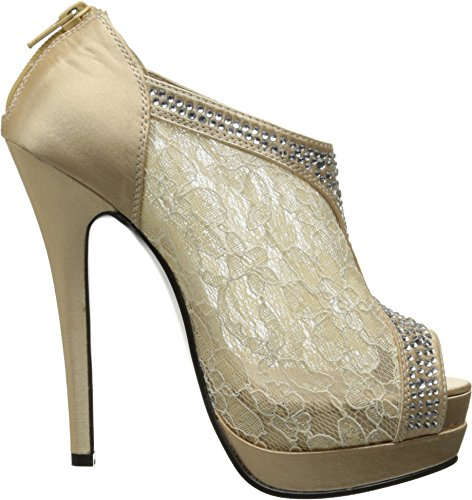 FABULICIOUS - Botines mujer Champagne Satin-Lace