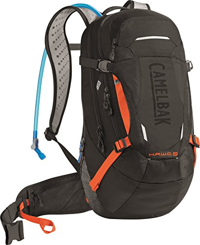 CamelBak H.A.W.G. LR Crux Lumbar Reservoir Hydration Pack, Black/Laser Orange, 3 L/100 -