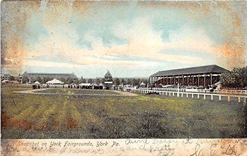 - Snapshot of York Fairgrounds York, Pennsylvania, PA, USA Old Vintage Horse Racing Postcard Post Card