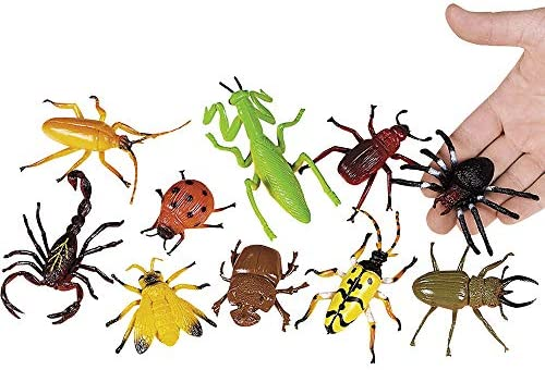 10 grandes surtidos feo insectos y arañas para bolsas de regalo: Amazon.es: Hogar