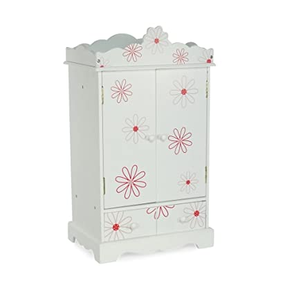 large 18 inch doll armoire storage furniture fits 18 american girl dolls floral - American Girl Doll Armoire