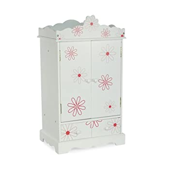 Large 18 Inch Doll Armoire | Storage Furniture Fits 18u0026quot; American Girl  Dolls | Floral