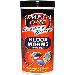 Omega One Freeze Dried Blood Worms 0.96oz.