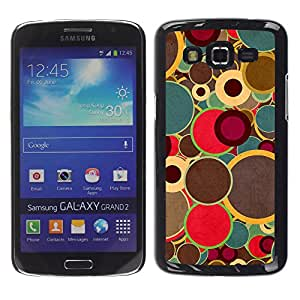 MOBMART Carcasa Funda Case Cover Armor Shell PARA Samsung Galaxy Grand 2 - Dull Colored Circle Drums