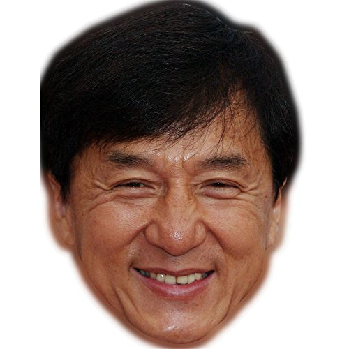 (Jackie Chan Celebrity Mask, Card Face and Fancy Dress)