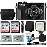 Canon PowerShot G7 X Mark II Digital Camera Video Creator Kit + SanDisk 32GB Card + Deluxe Camera Case + Digital Compact LED Video Light + USB Card Reader + Tri-Fold Card Wallet + Ultimate Video Kit