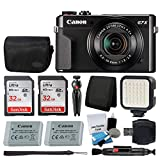 Canon PowerShot G7 X Mark II Digital Camera Video Creator Kit + SanDisk 32GB Card + Deluxe Camera Case + Digital Compact LED Video Light + USB Card Reader + Tri-Fold Card Wallet – Ultimate Video Kit