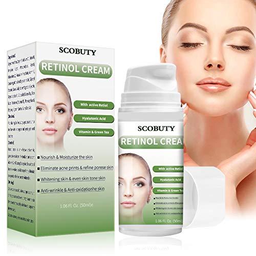 51DLkHowBHL - Retinol Cream,Retinol Moisturizer Cream,Retinol Day Night Cream,Anti Aging Cream with Active Retinol Hyaluronic Acid for Face Eye Area Wrinkles Fine Lines Firming Skin