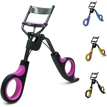 Halffle Women Fashion Curl-shaped Durable Double Color Handle Eyelash Curler Eyelash Curlers