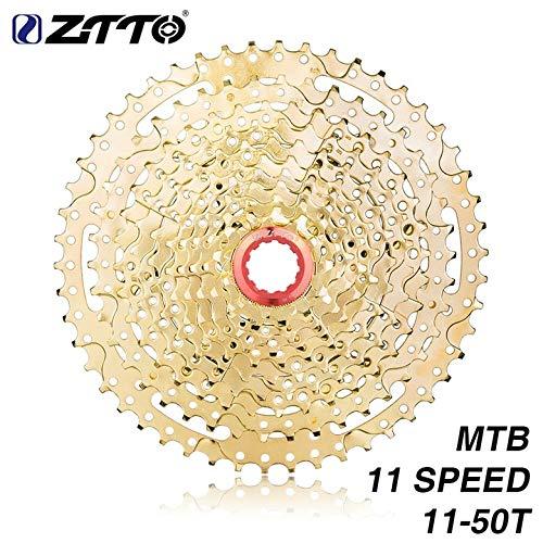Kurphy ZTTO 11-Fach Kassette 11-50T Kompatibles Rennrad Shimano Sram System Hochfeste Stahlkettenräder, die Goldgetriebe Falten