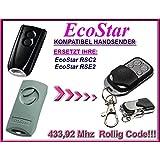 EcoStar RSC2, EcoStar RSE2 kompatibel handsender, ersatz fernbedienung, 433,92Mhz rolling code. Top Qualität ersatzgerät!!!