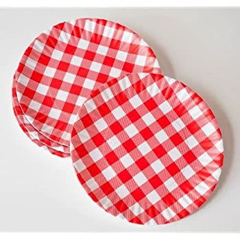 \ What Is It?\  Reusable Red \u0026 White Gingham Checkered Picnic / Dinner Plate  sc 1 st  Amazon.com & Amazon.com | "|350|350|?|en|2|0cad56025602467f58e205df26f07bcc|False|UNLIKELY|0.4039202928543091