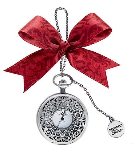 Pocket Watch Ornament - Ganz Christmas Holiday Cherished Time Clock Pocket Watch Ornament CT (CT05)