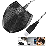 Neewer 192KHZ/24Bit USB Omnidirectional Condenser Microphone for Video Conference, Recording, Skype, Online Class, Court Reporter, Plug & Play (Mac OS X Windows PC Compute)