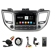 TLTek 8 inch HD 1024*600 Muti-touch Screen Car GPS Navigation System For Hyundai Tucson 2016 Android DVD Player+Backup Camera+North America Map