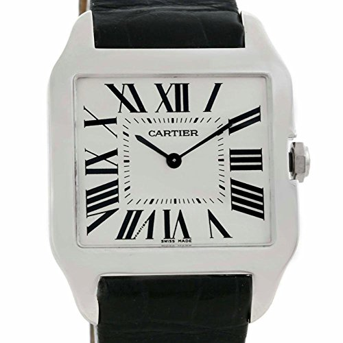 Cartier Santos Dumont mechanical-hand-wind mens Watch W2007051 (Certified Pre-owned)