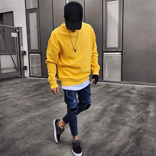 Stile Slim Semplice Blu Uomo Skinny Distrutta Colour Fori Jeans Chern 33w E Denim Fit 30l Stretch 6 xHqgSYS4