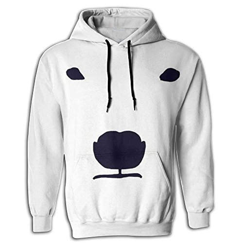 CHAMPXIE Mens 2018 Crazy Polar Bear Hoodie 3d Graphic Sweatshirts (Natural Bachelor Chest)