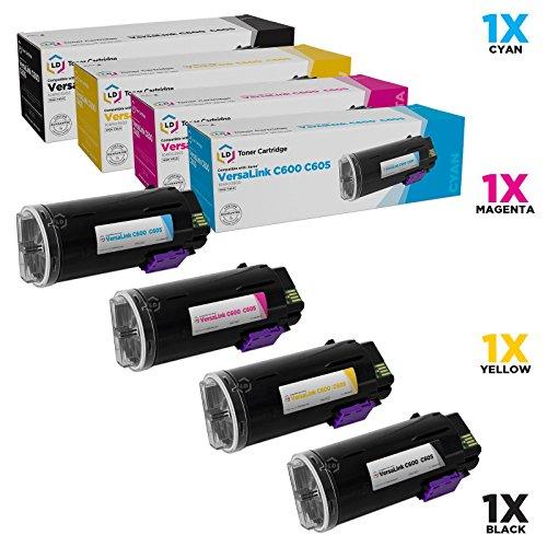 LD Compatible Toner Cartridge Replacements for Xerox VersaLink C600 & C605 High Yield (Black, Cyan, Magenta, Yellow, 4-Pack)