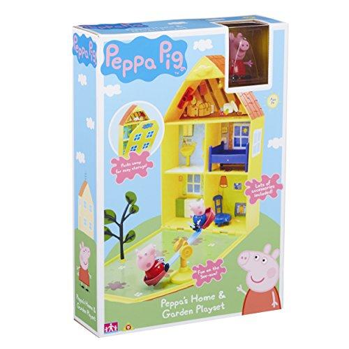 (Peppa Pig 06156 Peppa's House & Garden Playset)
