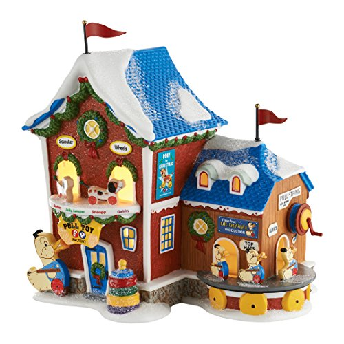 Department 56 4050962 North Pole Series Fisher Price Pull Toy Factory