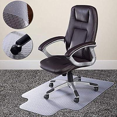 Desk Chair Mat for Carpet - Vinyl Floor Protector for Low-Pile Carpets,Non-Slip Bottom, Home, Office, Computer.
