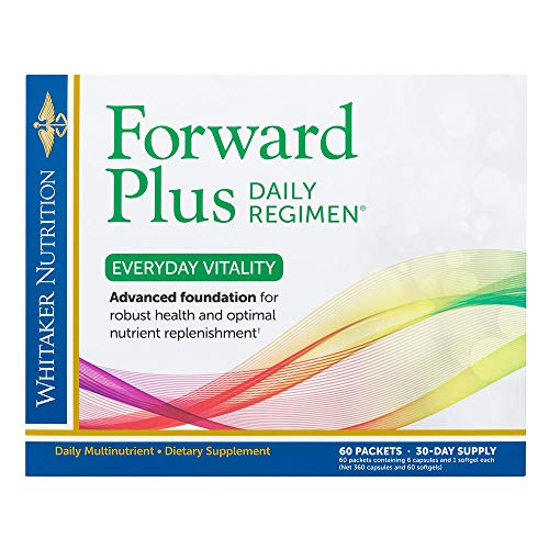Dr. Whitaker s Forward Plus Daily Regimen – Comprehensive Multivitamin Supplement Supports Optimal Energy, Strength, Vitality, and Stamina – 60 Packets 30-Day Supply