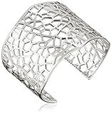 Ron Hami Lace Sterling Silver Wide Cuff Bracelet