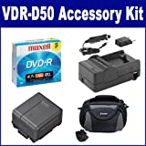 Panasonic VDR-D50 Camcorder Accessory Kit includes: ACD756 Battery, SDC-26 Case, SDM-130 Charger, 638002 Tape/ Media