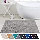 DEARTOWN 24x39 Inchs Bathroom Rug Carpet, Non-Slip Quick Drying Bath Mat with Water Absorbent Soft Microfibers Rugs (24x39 Inches, Beige)