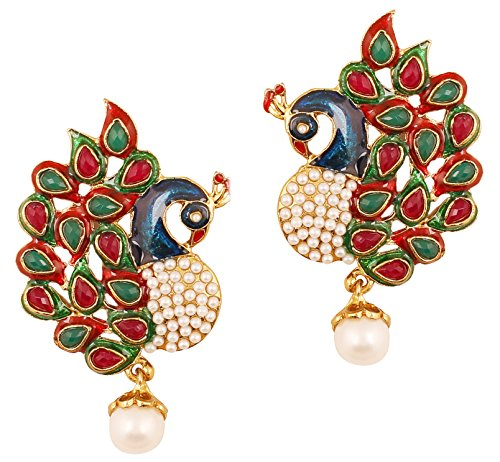 Designer Earrings Indian (Touchstone