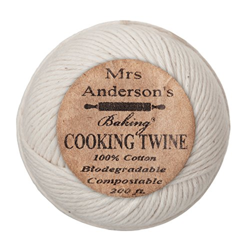 Kitchen Twine - Mrs. Anderson's Baking Cooking Twine, Made in America, All-Natural Cotton, 200-Feet