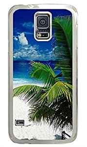 personalize Samsung Galaxy S5 cases Tropical Beach Holiday PC Transparent Custom Samsung Galaxy S5 Case Cover