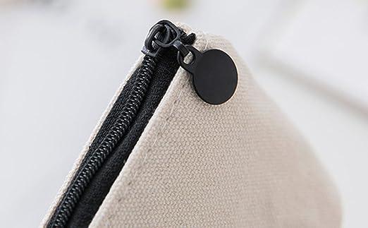 1002e2a33 weimay lienzo bolso de mano cartera clave bolsa de monedero funda con cierre  de cremallera para la escuela oficina, color One Cactus 10*9*3.5cm:  Amazon.es: ...