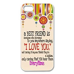 Zheng caseZheng caseiphone 4/4s /iPhone 4/4s Covers Hard Back Protective-Unique Design Best Friends Quotes with Aztec Tribal Style Case Perfect as Christmas gift(5)