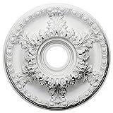 Ekena Millwork CM18GA 18-Inch OD x 3 1/2-Inch ID x 1 3/4-Inch Granada Ceiling Medallion