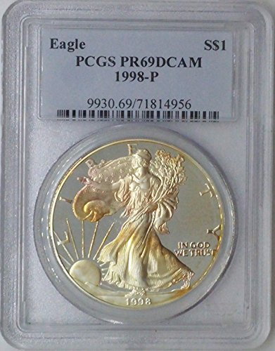 1998 P American Eagle $1 PR69 PCGS Silver Dollar Old US Coin 90% Silver