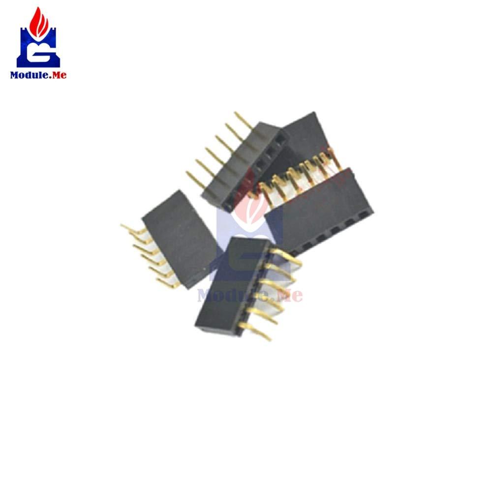 10PCS 6Pin Single Row Header Socket Connector 2.54MM Pitch New