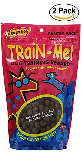 Crazy Dog Train-Me! Training Reward Dog Treats (Bacon, 2x 16 oz) (Me Dog Train Crazy)