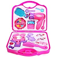 Fun Villa Make-up Beauty Set with Hair Dresser & Accessories Toy for Girls, Pink