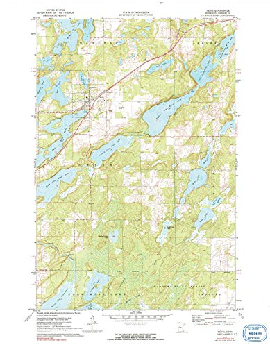 (YellowMaps Nevis MN topo map, 1:24000 Scale, 7.5 X 7.5 Minute, Historical, 1970, Updated 1991, 27.29 x 21.21 in - Paper)