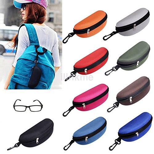 MIJORA-Sunglasses Cases Hot Sale Zipper Eyeglass Case Glasses Box Women Men Gift US color:orange