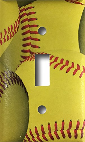 Softball Decorative Light Switch Cover Wall Plate
